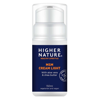 Higher Nature MSM Cream Light - Body and Face - 150ml