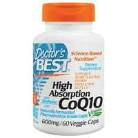 High Absorption CoQ10 - BioPerine - 60 x 600mg Vegicaps