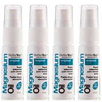 BetterYou Magnesium Oil Original Spray - 4 x 15ml