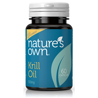 Natures Own Krill Oil - 60 x 500mg Vegicaps