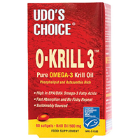 Udos Choice O-Krill 3 - Omega 3 - 60 x 500mg Softgels