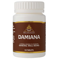 Damiana - Herbal Aphrodisiac - 100 Tablets - Best before date is end of Mar 2015