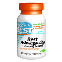 Doctors Best - Best Ashwagandha - 60 x 125mg Vegicaps