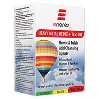 Enerex Heavy Metal Detox & Test Kit - 60 Caps & 1 Test