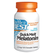 QuickMelt Melatonin - 120 x 2.5mg Chewable Tablets