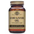 Solgar Norwegian Cod Liver Oil - Vitamins -100 Softgels