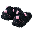Aroma Home Fun for Feet - Fuzzy Slippers - Black Cat