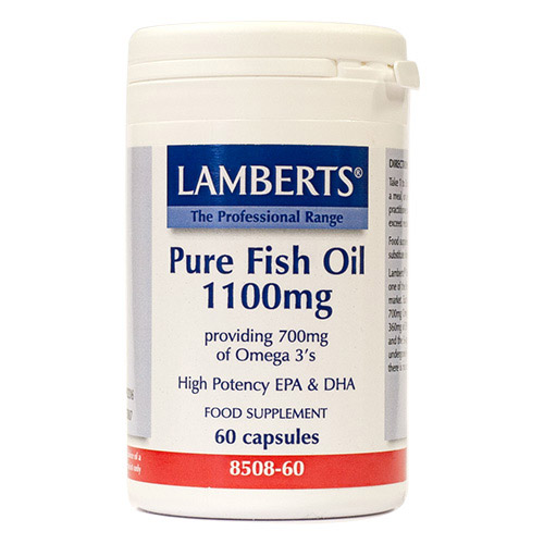 Lamberts pure fish oil high epa dha 60 x 1100mg for Fish oil capsules side effects