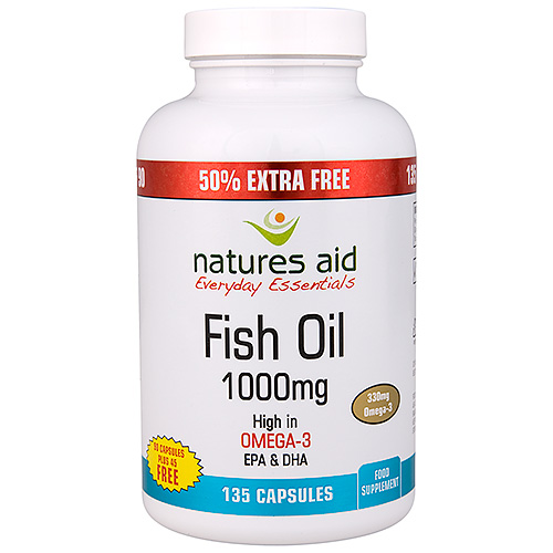 Natures aid fish oil omega 3 50 extra free 90 45 for Rosita fish oil