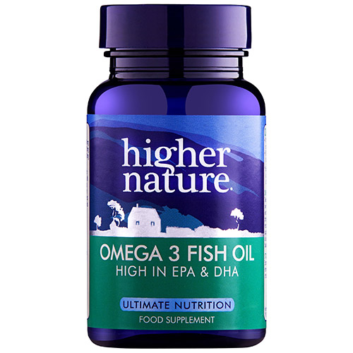 Higher nature fish oil omega 3 30 x 1000mg capsules for Fish oil capsules