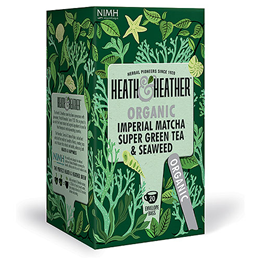 Heath & Heather Organic Imperial Matcha, Green Tea & Seaweed - 20 Bags