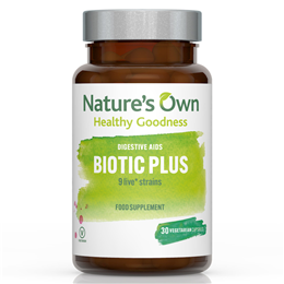 Natures Own Probiotic Plus - Friendly Bacteria plus FOS - 30 Vegicaps