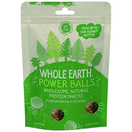 Whole Earth Protein Power Balls - Pumpkin, Chia & Flax Seed - 50g - Best before date is 16th December 2017