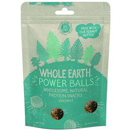 Whole Earth Protein Power Balls - Coconut - 50g - Best before date is 22nd December 2017