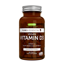 Igennus Pure & Essential Vegan Vitamin D3 1000iu - 365 Tablets