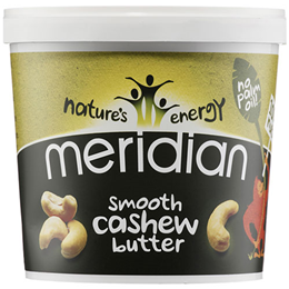 Meridian Smooth Cashew Butter - 1kg - Best before date is 31st March 2018