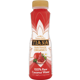 TIANA Fair Trade Organics Raw Coconut Water with Pomegranate - 350ml