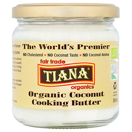 TIANA Fair Trade Organics Pure Coconut Cooking Butter - 350ml