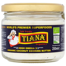 TIANA Fair Trade Organics High Omega 3 Coconut Cooking Butter - 250ml