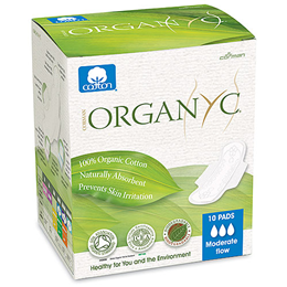 Organyc Sanitary Pads Folded Wings - Moderate Flow - 10 Pads