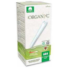 Organyc Applicator Tampons - Super - 14 Pack