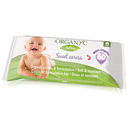 Organyc Sweet Caress Organic Cotton Baby Wipes - 60 Wipes