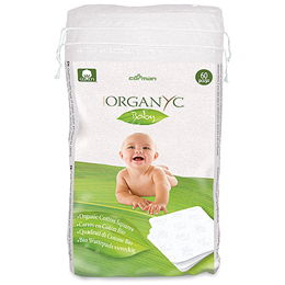 Organyc Baby Organic Cotton Squares - 60 Pieces