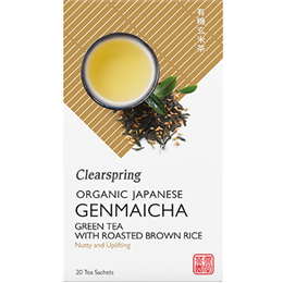 Clearspring Organic Genmaicha Green Tea with Brown Rice - 20 Teabags