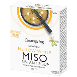 Clearspring Mellow White Miso Instant Soup - 10g x 4 Pack