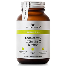 Wild Nutrition Bespoke Child Food-Grown Vitamin C & Zinc - 30 Capsules