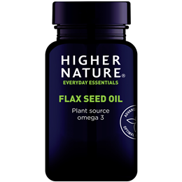 Higher Nature Flax Seed Oil Plant Source Omega 3 - 60 x 1000mg Capsules