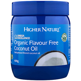 Higher Nature Omega Excellence Organic Flavour Free Coconut Oil - 400g