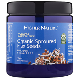 Higher Nature Omega Excellence Organic Sprouted Flax Seeds - 250g