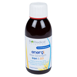 BioMedical Nutrition energi - Max Strength Iron & D3 - 150ml