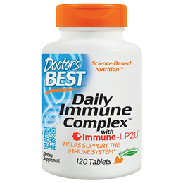 Doctors Best Daily Immune Complex with Immuno-LP20 - 120 Tablets