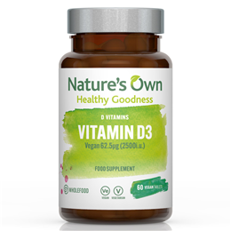 Natures Own Wholefood Vitamin D3 - 60 Tablets