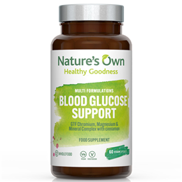 Natures Own Wholefood Blood Glucose Support - 60 Vegicaps