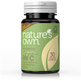 Natures Own Wholefood Organic Vitamin C - 30 Vegicaps