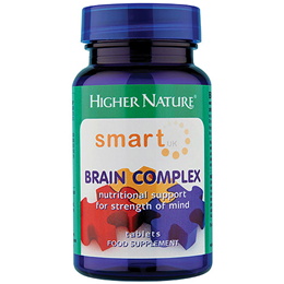 Higher Nature Smart UK Brain Complex - 30 Tablets - Best before date is 30th April 2017