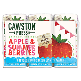 Cawston Press Kids Apple & Summer Berries - 3 x 200ml Multi-Pack