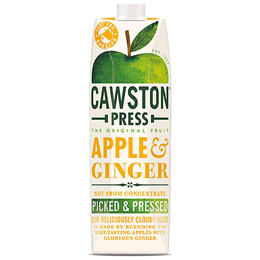 Cawston Press Apple & Ginger Juice - Pressed - 1 Litre