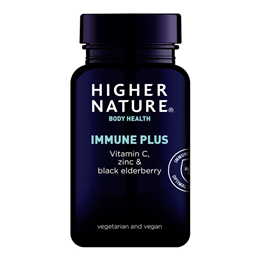 Higher Nature Immune + - Vitamin C with Zinc - 180 Tablets