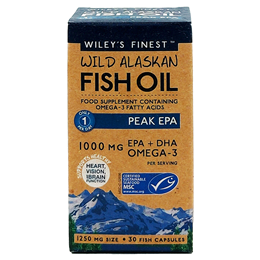 Wiley`s Finest Wild Alaskan Fish Oil Peak EPA - 30 x 1000mg Capsules