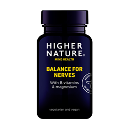 Higher Nature Balance for Nerves - B Vits & Magnesium - 180 Capsules