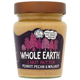 Whole Earth 3 Nut Butter - Peanut, Pecan & Walnut - 227g