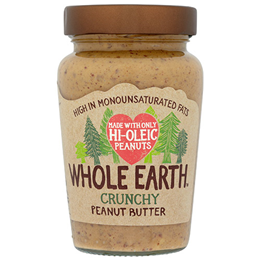 Whole Earth Crunchy Peanut Butter - Hi-Oleic - 340g