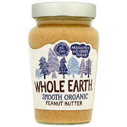 Whole Earth Organic Smooth Peanut Butter - 340g - Best before date is 30th June 2019