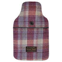Aroma Home Heather Plaid British Tweed Hot Water Bottle