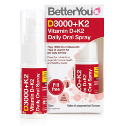BetterYou DLux+ - Daily 3000iu Vitamin D + K2 Oral Spray - 12ml