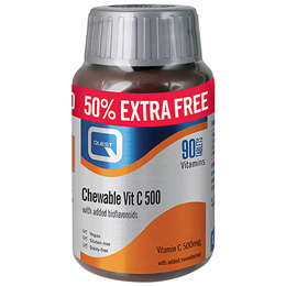 Quest Chewable Vitamin C - 50% Extra FREE - 60+30 x 500mg Tablets